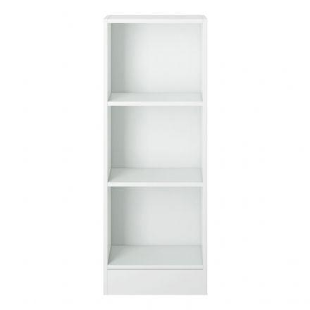 Low Narrow Bookcase (2 Shelves) in White